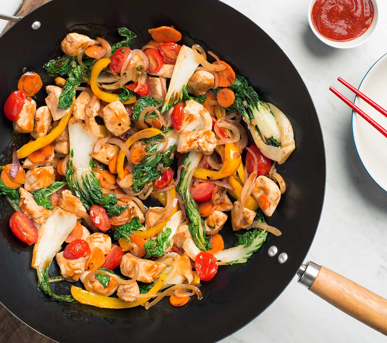 Chicken Pepper And Corn Stir Fry